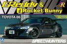 1:24 Scale Greddy & Rocket Bunny Volk Racing Toyota GT86 Model Kit - Black